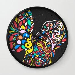 Peruvian bird Gallito de las Rocas Colorful version Wall Clock