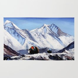 Black Yak On Everest Base Camp Rug