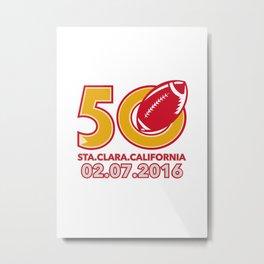 50 Pro Football Championship Santa Clara Metal Print