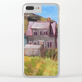Fish Houses Clear iPhone Case