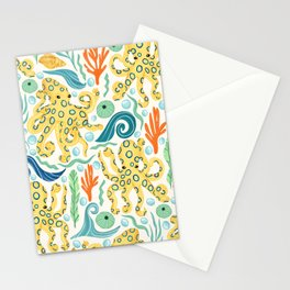 The Realm of Blue-Ringed Octopi  Stationery Cards