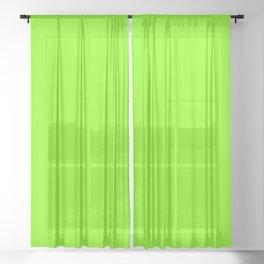 UFO Green Sheer Curtain
