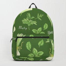 Green vegetables Backpack
