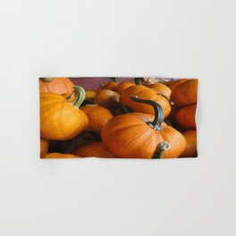 Vector Style Harvest Of Pumpkins Hand & Bath Towel