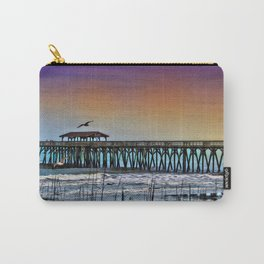 Myrtle Beach State Park Pier - Photo as Digital Paint Carry-All Pouch
