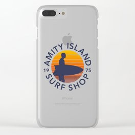 Amity Island Surf Shop Clear iPhone Case