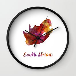 South Africa  in watercolor Wall Clock