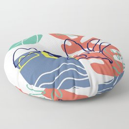 Under the sea coral abstract Floor Pillow