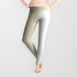 White and Pearl Brown Vertical Halves Leggings