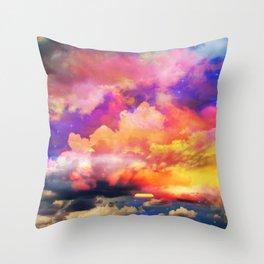 lollipop sunset Throw Pillow