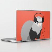 ferret Laptop & iPad Skins featuring Music Loving Ferret by Boriana Giormova