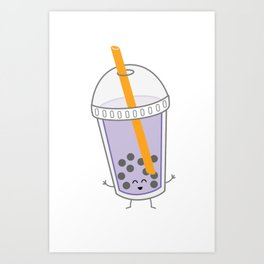 Bubble Tea | queenie's cards Art Print