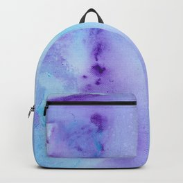 Abstract Watercolor Art Blue And Purple Modern Painting Backpack