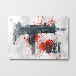 UZI gun Metal Print