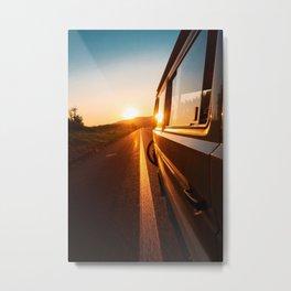 Sunset Travels Van (Color) Metal Print