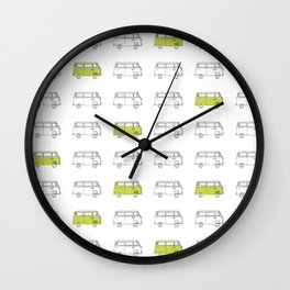 Hippie Van (AKA V W Bus) Wall Clock