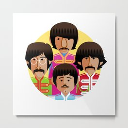 john-paul-george-ringo-1967 Metal Print