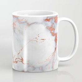 Glam stylish faux rose gold gray abstract blush chic marble Coffee Mug