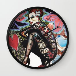 Tattoo Girl Wall Clock