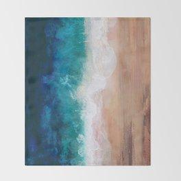 Watercolour Summer Beach IV Throw Blanket