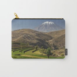 Inca garden and active volcano Misti in Arequipa Peru Carry-All Pouch