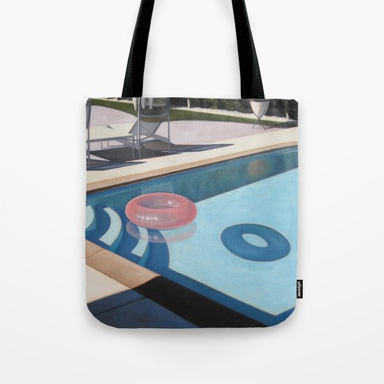 Pink Pool Inner Tube Tote Bag