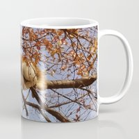 gondor Mugs featuring Cat on a tree by Augustinet