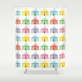 colourful circus tents Shower Curtain