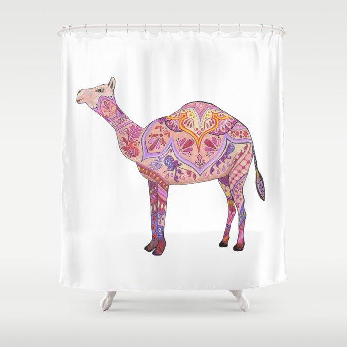Henna Camel Shower Curtain
