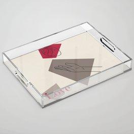 Love: Classic Acrylic Tray