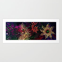Henna Mehndi Colorful print Art Print