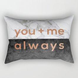 You + Me Always Rectangular Pillow