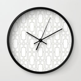 Simply Mid-Century Retro Gray on White Wall Clock