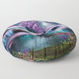 Fantasy Forest Floor Pillow