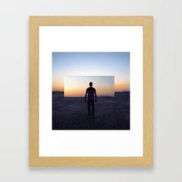 Sunset Lover Framed Art Print