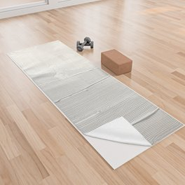 Relief [1]: an abstract, textured piece in white by Alyssa Hamilton Art Yoga Towel
