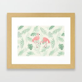 Flamingo Love Tropical Framed Art Print
