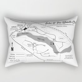 Lake O' The Woods Map O' The Grounds Rectangular Pillow