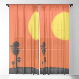 Desert Sunset Sheer Curtain