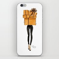 shopping iPhone & iPod Skins featuring Shopping by Kara Ashley Shreeve