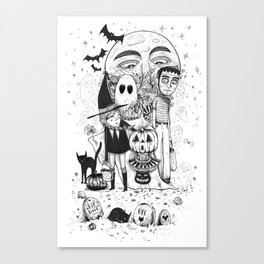 Halloween toothache Canvas Print