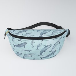 Pattern: Sea of Vaquita ~ (Watercolor Art, Copyright 2015) Fanny Pack