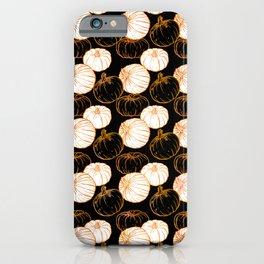 Pumpkins (Golden Calico) - Black iPhone Case