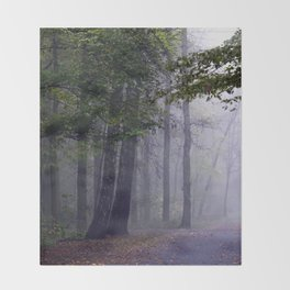 MISTY DAY Throw Blanket