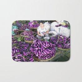Eggplant Vendor, Myanmar Bath Mat