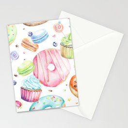 Sweets Pattern Stationery Cards