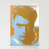clint barton Stationery Cards featuring clint by zemoamerica