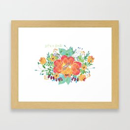 watercolour-life is good! Framed Art Print