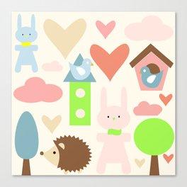 Bunny fun land Canvas Print