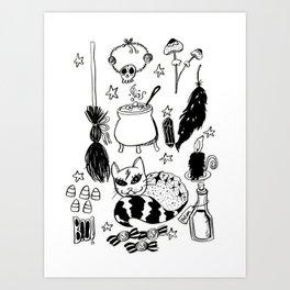 Halloween Doodles 2 Art Print